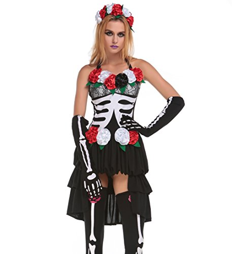 Blues Outfit Women Ghost Spirit Zombie Costume Adult Halloween Costume