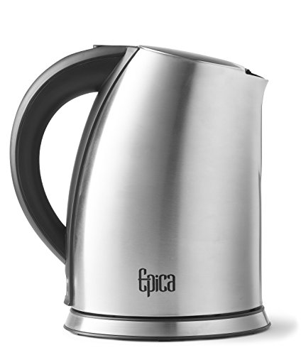Top Rated Epica 1.75 Quart Cordless Electric Stainless Steel Kettle-New and Improved 2016! (Epica Electric Kettle compare prices)