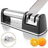 Kitchen Knife Sharpener - Ceramic and Diamond Knife Sharpener - Universal Culinary Knife Sharpener - Kitchen Knives Sharpener - 2-stage Knife Sharpener