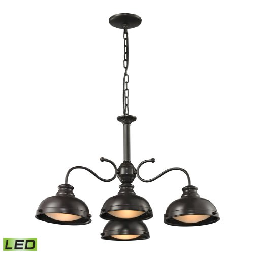 Henninger Collection 4 Light Chandelier In Oil Rubbed Bronze - Led, 800 Lumens (3200 Lumens Total) With Full Scale Dimming Range, 60 Watt (240 Watt Total)Equivalent , 120V Replaceable Led Bulb Included.