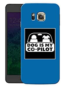 """Humor Gang Dog Is My Co-Pilot - Blue Printed Designer Mobile Back Cover For """"Samsung Galaxy Alpha"""" (3D, Matte, Premium Quality Snap On Case)"""