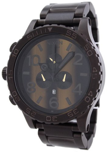 Nixon Men's 51-30 A0831073-00 Brown Stainless-Steel Quartz Watch with Brown Dial