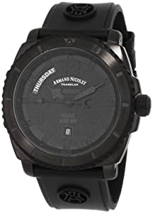 Armand Nicolet Men's 9610N-NR-G9610 S05 Sporty Automatic D.L.C. Black Treated Stainless-Steel Watc by Armand Nicolet