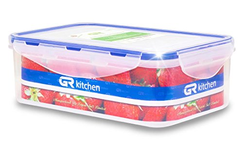 GR Kitchen Airtight Food Storage Container - BPA-Free, Clear Plastic Food & - Microwave, Dishwasher, Freezer Safe - 100% Leak Proof - FDA, LFGB, EU ISO Certifications,39 OZ (Easy Lock Food Containers compare prices)