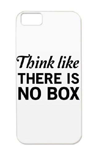 Think Like There Is No Box Motivational Miscellaneous Think Attitude Outside The Box Life Inspiring Art Design Thinking Ideas Box Inspiration Tpu For Iphone 5C Black Cover Case