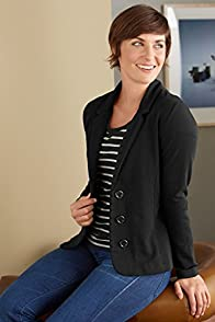 Fair Indigo Organic Fair Trade Knit Blazer