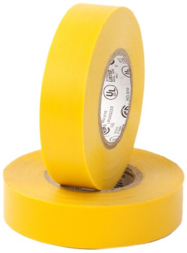 "Pratt Plus 001P3466Ftyel Vinyl General Purpose Standard Electrical Tape, 7 Mil Thick, 22 Yds Length X 3/4"" Width, Yellow (Pack Of 10)"