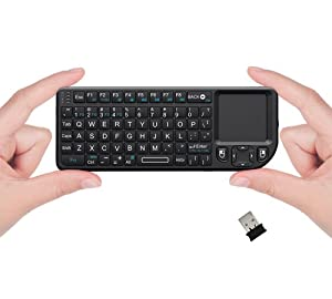 FAVI FE01-BL Mini 2.4GHz Wireless Keyboard with Mouse Touchpad (Black)
