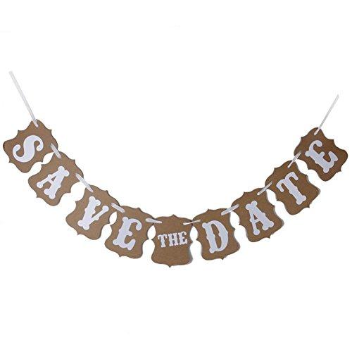 Feichen SAVE THE DATE Bunting Bannières mariage signes