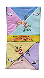 Milano Light colour Cotton handkerchiefs for women - Pack of 12 pcs