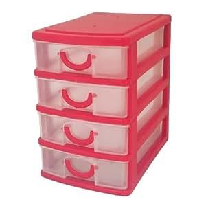 Guilty Gadgets Mini-tour de rangement avec 4 tiroirs en plastique: Amazon.fr: High-tech