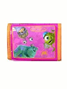Monster Inc Trifold Wallet - Micke , Sully & Boo Wallet (Pink)