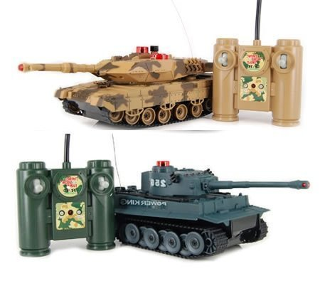 iPlay RC Battling Tanks -Set of 2 Full Size Infrared Radio Remote Control Battle Tanks - RC Tanks (Remote Control Car Shark compare prices)