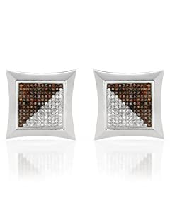Genuine Morne Rouge (TM) Earrings. 1.1 Ctw Diamonds Sterling Silver Earrings. 7.9 Grams in Weight and 20 mm in Length. 100% Satisfaction Guaranteed.