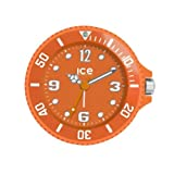 Ice-Clock 90 mm Travel Alarm Clock, Orange