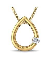 BlueStone 18K Yellow Gold Diamond Pendant - B00NHOVVFO