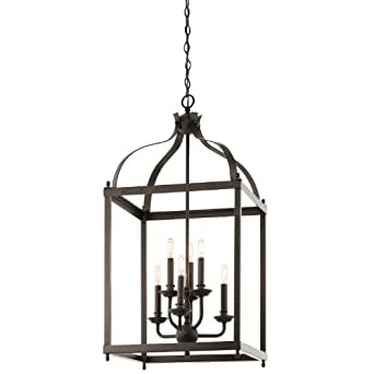 Kichler Lighting 42568OZ Larkin 6-Light Foyer Pendant, Olde Bronze Finish