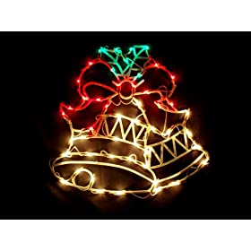 Double Bell Christmas Window Silhouette Decoration Home