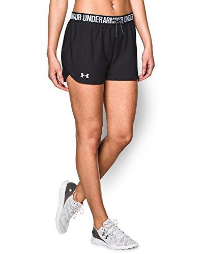 Under Armour Women's Play Up Shorts, Black (002), Medium