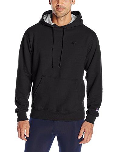 Champion Men's Powerblend Pullover Hoodie, Black, Medium (Champion Sweatshirt compare prices)