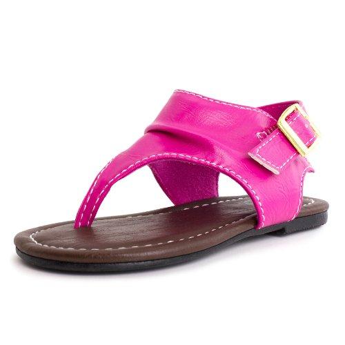 Girls Ankle Strap Roman Sandal Hot Pink 6 M Us Toddler front-564717