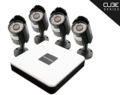 LaView Cube 4 Channel Compact Surveillance System with Cloud Storage, 4 x 600TVL Bullet Cameras (No HDD) - LV-KD5144B