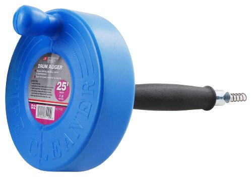 LDR 512 1130 Drum Drain Clearing Auger, 25-Foot