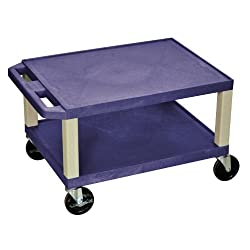 "H. WILSON 16"" H Tuffy Multi-Purpose Utility Cart Topaz and Putty"