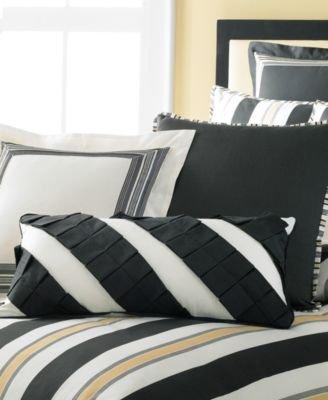 Martha Stewart Collection Bedding, Tuxedo Stripe 3 Piece Decorative Pillow Set front-993354