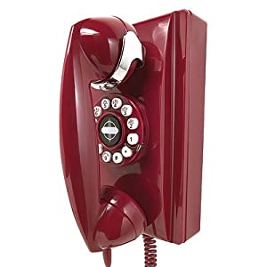 retro Crosley 302 Red Wall Phone (CR55-RE)