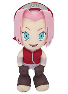 "Official GE Entertainment Naruto Shippuden Plush Toy - 8"" Sakura (GE-8905)"