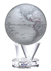 MOVA Globe - Silver with Red Lettering