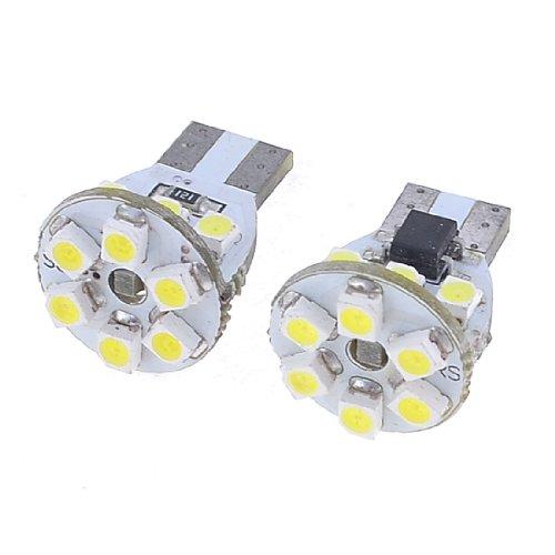 2 Pcs Canbus W5W T10 1210 3528 12-Smd Led White Car Light Bulb Lamp