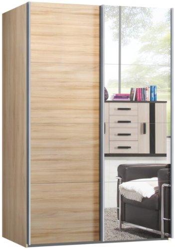 Schwebetrenschrank-Schiebetrenschrank-ca-150-cm-breit-Buche-mit-Spiegel-Kleiderschrank