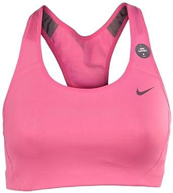Nike Ladies Dri-Fit High Shape Sports Bra-Light Magenta by Nike