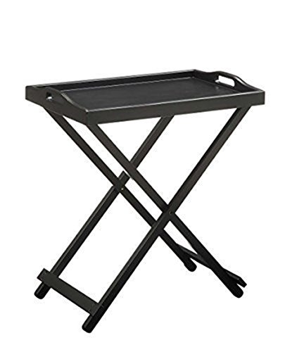 NEW expanding tray table Convenience Concepts Folding Tray Table, Black (Tray Inserts For A Table compare prices)