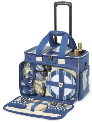 Aegean Deluxe Picnic Cooler on Wheels