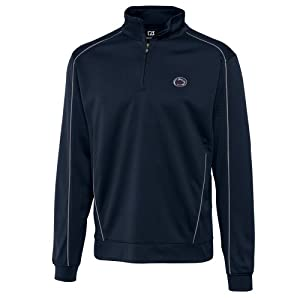NCAA Mens Penn State Nittany Lions Navy Blue Drytec Edge Half Zip Jacket by Cutter & Buck