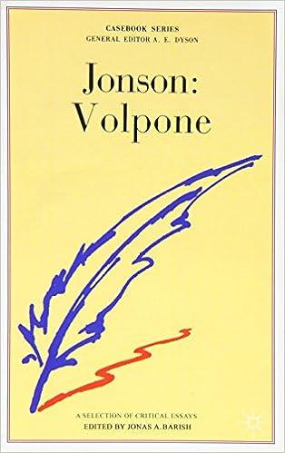 antitheatricalism and jonsons volpone essay