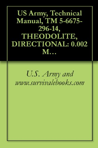 Us Army, Technical Manual, Tm 5-6675-296-14, Theodolite, Directional: 0.002 Mil Gradu 5.9 Inch Lg Telescope, Detachable Tribrach W/Accessories And Tr, ... T2-67Mil And T2-68Mil), (6675-00-98