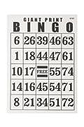Giant Print Bingo Card