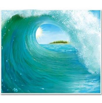 Beistle 52151 Surf Wave Insta Mural, 5-Feet by 6-Feet
