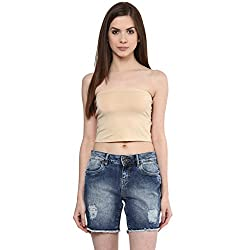 Ajile by Pantaloons Women's Casual Solid Tube Top (205000005588980_Beige_ S)