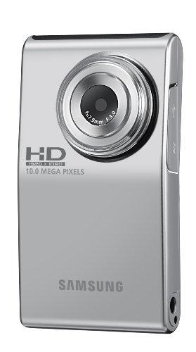 Samsung U10 Full HD Ultra Compact Camcorder - Silver (1920 x 1080 x 30p Full HD video, 10MP Still Image) 2 inch Screen