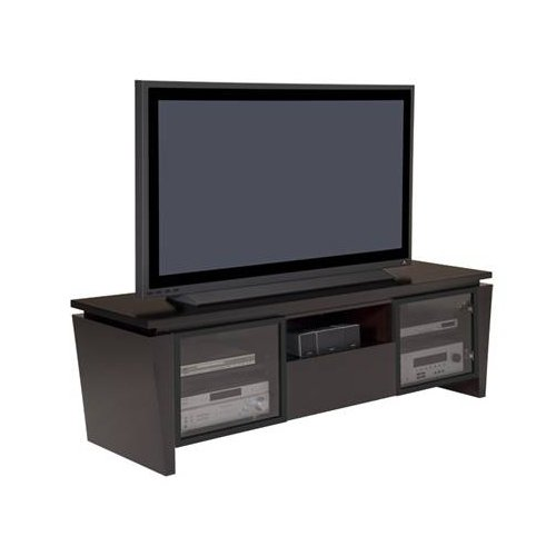 Cheap Furnitech 75 Inch Classic Modern TV Stand with Tapered Legs (FT75TL-W) (FT75TL)