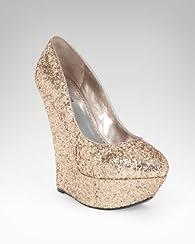 Ophelia Glitter Platform Wedge