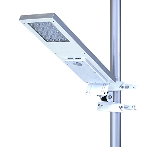 ALPHA 1080X Street Light , 3-Mode Setting, Lithium Battery, Wide Angle 4-Axis Adjustment for Optimum Sunlight Exposure, Fit Max Pole Diameter 3