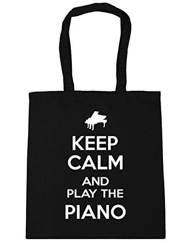 hippowarehouse-keep-calm-and-play-the-piano-tote-shopping-gym-beach-bag-42cm-x38cm-10-litres