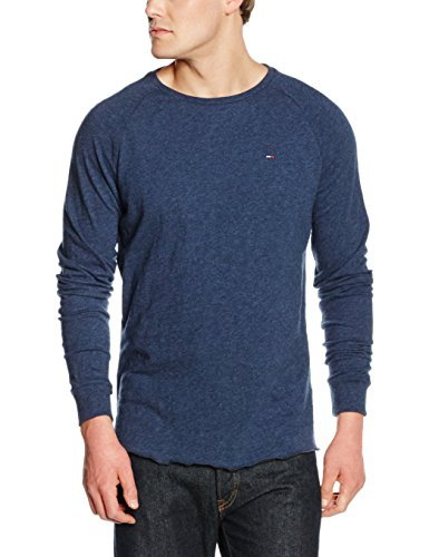 tommy-hilfiger-thdm-cn-knit-l-s-9-t-shirt-uomo-blu-dark-navy-heather-093-xx-large-taglia-produttorex