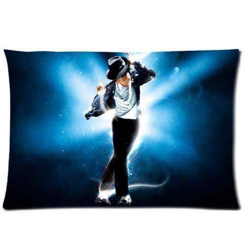 Michael Jackson Galaxy Blau Custom Bild Kissen 20x 30(eine Seite)